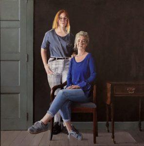 Portret van Hanneke en Esja
