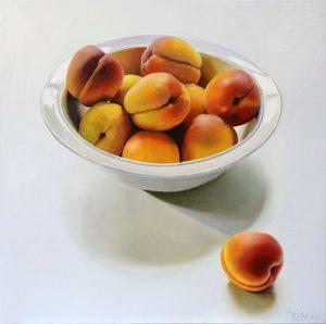 Stilleven met abrikozen