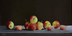 Stilleven met appels en perzikken