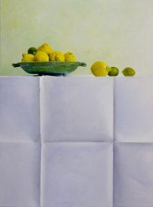 Stilleven met limoen en citroen