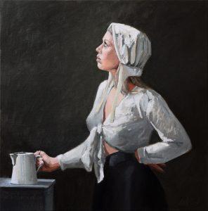 Studie model melkmeisje milkmaid